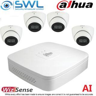 Dahua NVR 4108-8P-4KS2 8CH PoE KIT: With 4x 6Mp 2.8mm Eyeball Cameras NO HDD