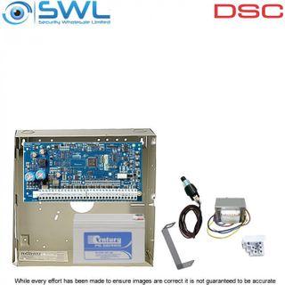 DSC Neo HS2064 Base Kit: Transformer, Battery & Tamper Only - Add Keypad