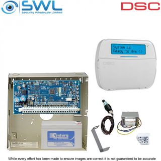 DSC Neo HS2064 RF Kit: Transformer, Battery, Tamper & HS2LCDRFP4N RF Keypad