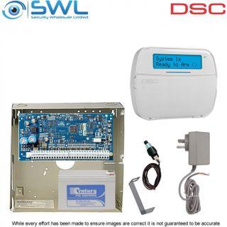 DSC Neo HS2064 RF Kit: Plug Pack, Battery, Tamper & HS2LCDRFP4N RF Keypad