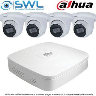 Dahua NVR 4108-8P-4KS2/L 8CH PoE KIT: With 4x 4Mp 2.8mm Eyeball Cameras NO HDD