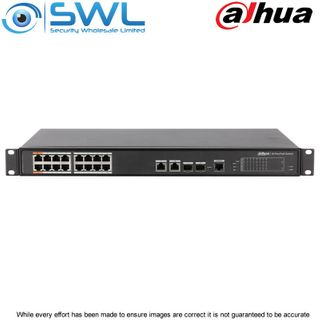 Dahua PFS4218-16ET-190, 16 Port PoE Switch +2 Combo & SFP Ports 190W