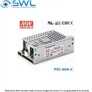 Mean Well PSC-60A-CWE: 60W Single Output c/w Battery Charger 59.34W 13.8V 2.8A