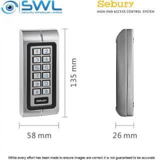 Sebury W1-A Slimline Two Door Access Control Keypad: RFID, 1200 Users