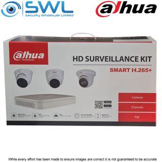 Dahua IP BOX KIT: 1x NVR4108-8P-4KS2/L 8CH PoE, 4x 4MP 2.8mm Eyeball Cams, 2Tb