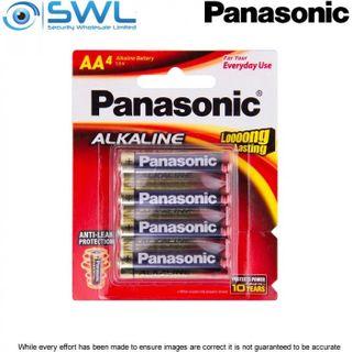 AA 4 Pack Panasonic Alkaline