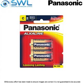 C Size 2 Pack Panasonic Alkaline