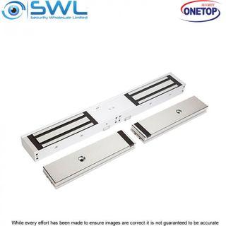 ONETOP EM5700D DSS: Double Door S/Mount Electromagnetic Lock 12/24VDC 550Kg