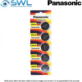 3V 5 Pack Panasonic Lithium Battery 2450