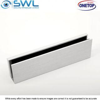 ONETOP UBG12LDSS: 12mm Aluminium U Bracket for Armature Plate Glass Door- EM5700