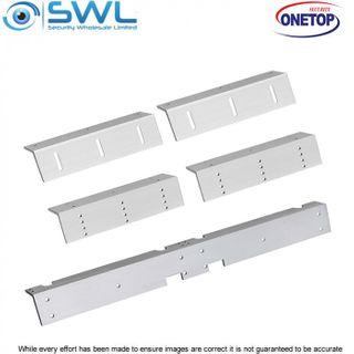 ONETOP L&Z 3500D: Double Door Mag L&Z Bracket for In-Swing Door Install