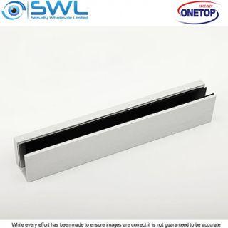 ONETOP UBG 12M: 12mm Aluminium U Bracket for Armature Plate Glass Door - EM3500