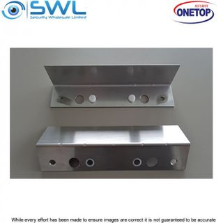 """ONETOP DB1260L MAG: DB1260 """"L"""" Bracket with Magnets for Strike Plate"""