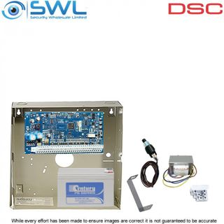 DSC Neo HS2016 Cabinet Kit: Transformer, Battery & Tamper Only - Add Keypad