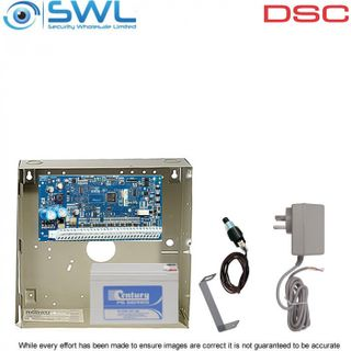 DSC Neo HS2016 Cabinet Kit: Plug Pack, Battery & Tamper Only - Add Keypad