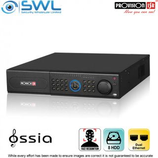 Provision-ISR NVR8-32800RFA (2U) 32CH FACE RECOGNITION NVR No PoE. 2x NIC