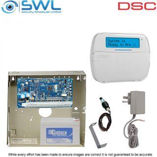 DSC Neo HS2016 Cabinet RF Kit: Plug Pack,Tamper, HS2LCDRFP4N RF Keypad c/w Pro