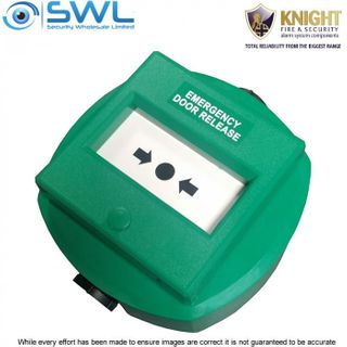 KNIGHT MX77DWGSC: Weatherproof Green Emergency Exit Resettable