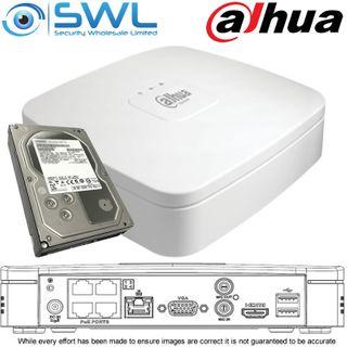 Dahua NVR 4104-P-4KS2/L: 4CH, 4x PoE Smart Box PRO, 1x 2Tb HDD