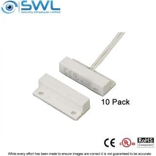 "SWL Mini Surface Reed Switch with Flange (BS-2021) 10 PACK Lx 33.5mm  1"" Gap"