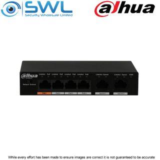 Dahua PFS3006-4ET-60, 4 PoE + 2 PoE Desktop Switch 60W