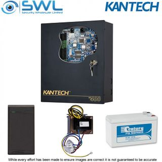 Kantech KT-400 BASE Door Kit: KT-400 PSU Battery IO Prox Reader PROXREX EMREX