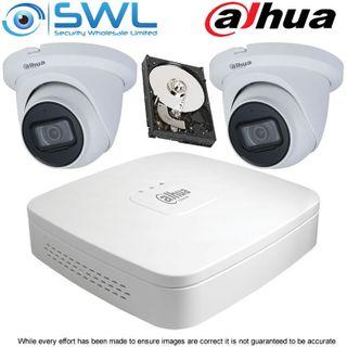 Dahua NVR 4104-P-4KS2 4CH PoE KIT: With 2x 4Mp 2.8mm Eyeball Cameras. 1TB HDD