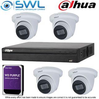 Dahua NVR 4108HS-8P-4KS2 8CH PoE KIT: c/w 4x 4Mp 2.8mm Eyeball Cams, 2Tb