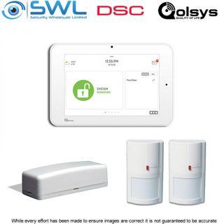 Qolsys Base Kit: Panel, 1x WS4945 Door Reed & 2x WS4904P PIRS