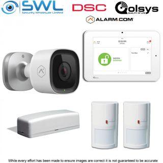 Qolsys Camera Kit: Panel, 1x WS4945 Door Reed & 2x WS4904P PIRS, 1x ADC-V723W