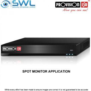 BSTOCK Provision-ISR NVR8-16400FA(1U) 16CH SPOT MONITOR Application or NVR
