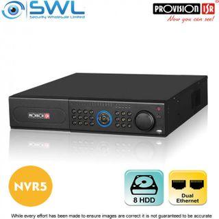 Provision-ISR NVR5-32800 (2U) 32CH NVR, No PoE, 2x NIC, 8x HDD. No HDD Included.