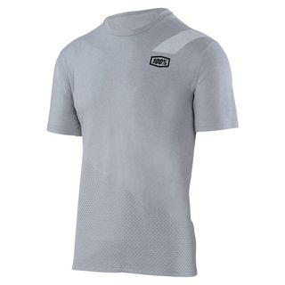 100% Mens Slant Silver Tech T-Shirt