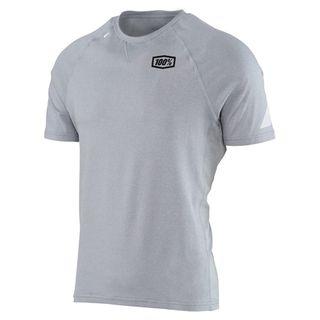 100% Mens Relay Silver Tech T-Shirt