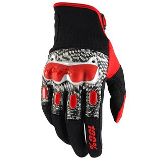 100% Derestricted Black/White/Red Gloves
