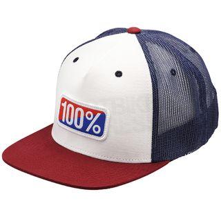100% Americana White Trucker Hat