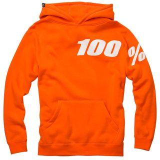 100% Disrupt Youth Orange Hoodie