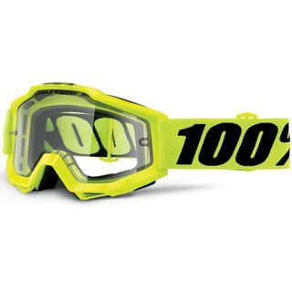 100% Accuri Enduro Goggle Fluo Yellow Clear Dual Lens