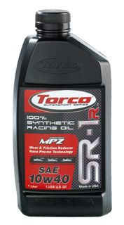 Torco SR-1R Synthetic Racing Oil 10W40