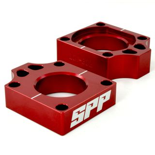 SPP Axle Block Honda CRF250-450R/X Red