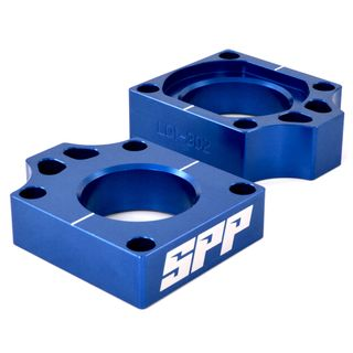 SPP Axle Block Honda CRF250-450R/X Blue