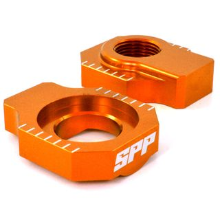 SPP Axle Block Various KTM 125-450SX/SXF Orange