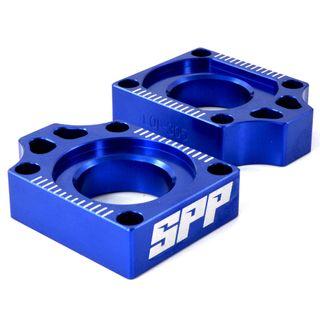 SPP Axle Block Yamaha YZ125-450/F WR450F Blue