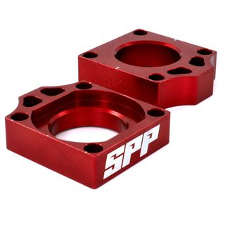 SPP Axle Block Kawasaki KX125-450/F Red