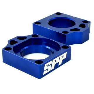 SPP Axle Block Kawasaki KX125-450/F Blue