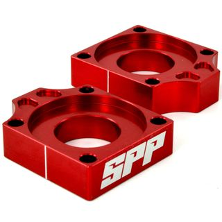 SPP Axle Block Honda CRF150R Red