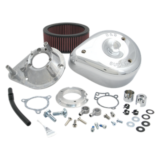 S&S Teardrop Aircleaner Kit for 2008-'17 HD Twin Cam, 103, 110 Tri-Glide and CVO Stock-Bore Throttle By Wire Models - Chrome