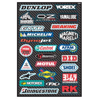 Factory Effex OEM Sticker Sheet Sport Bike Sponsor