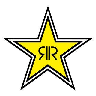 "Factory Effex Die Cut Sticker 12"" Rockstar Logo"