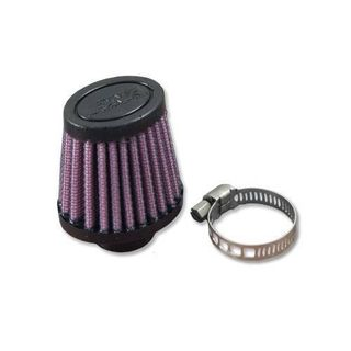 DNA Female Crank Case Vent Air Filter Oval 12mm Inlet 67mm Length